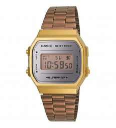 Reloj Casio Collection digital dorado/rosado-A168WECM-5EF