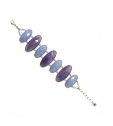 Pulsera LineArgent Con Amatista-P-14665-A