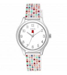 Reloj Tous Tartan Kids acero y silicona-900350245