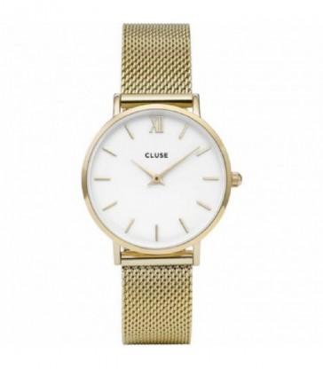 Reloj Cluse sra acero dorado esf blanca-CW0101203007