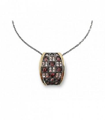 Collar+Colg plata Bohemme circonitas-7CHO015P42