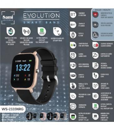 Reloj Sami smartband negro y dorado-WS-2335NRG