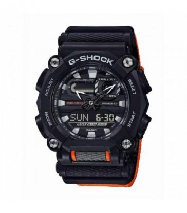 Reloj Casio G-Shock negro y naranja-GA-900C-1A4ER