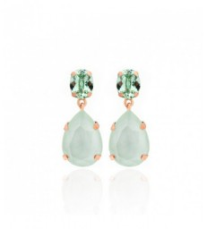 Pendientes plata doble oval green rosse-A3250-87T