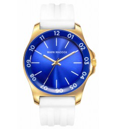 Reloj sra dorado caucho blanco Mark Maddox-MP7001-34