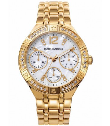 Reloj Mark Maddox sra multifuncion dorado-MM6008-25