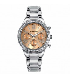 Reloj Mark Maddox sra multifuncion plateado.-MM7001-73