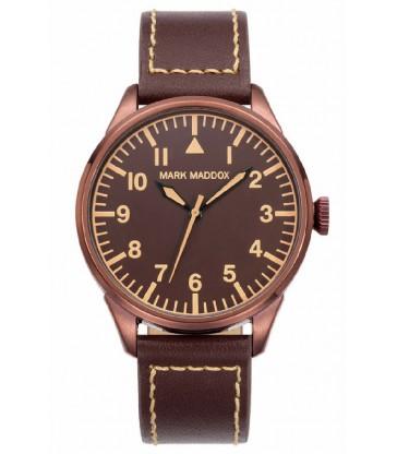 Reloj Mark Maddox cab marron piel.-HC0010-44