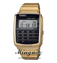 RELOJ CASIO CALCULADORA COLOR ORO-CA-506G-9AEF