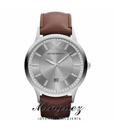 Reloj Emporio Armani Renato cab acero y piel.-AR2463
