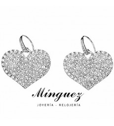Pendientes plateados Guess -UBE51407