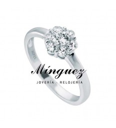 ANILLO DIAMONFIRE PLATA FLOR-6117301582170