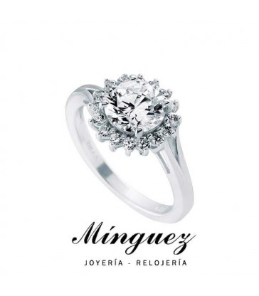 ANILLO DIAMONFIRE PLATA SOL-6117331582180