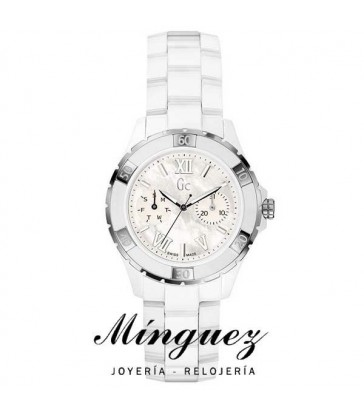 Reloj Guess Collection sra ceramica blanco-X69001L1S