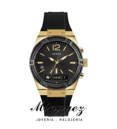 Reloj Guess Connect con Bluetooth negro y dorado-C0002M3