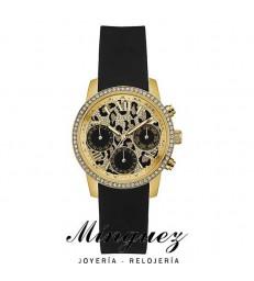 Reloj Guess para mujer negro y dorado-W0023L6