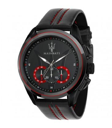 Reloj cab Maserati Traguardo Black 45mm-R8871612023