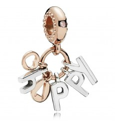Charm plata Pandora Rose Happy-787017NPO