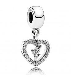 Charm plata Amor de Campanilla-791565CZ