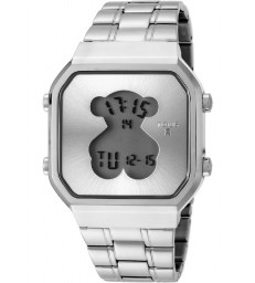 Reloj Tous D-Bear SQ digital plateado-600350275