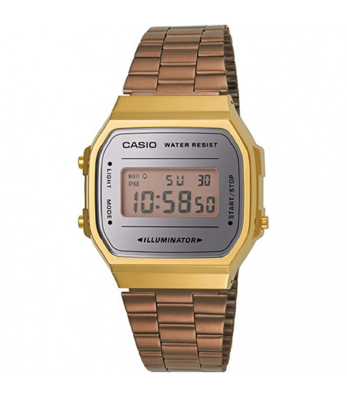 3538cda43597 Reloj Casio Collection digital dorado rosado-A168WECM-5EF