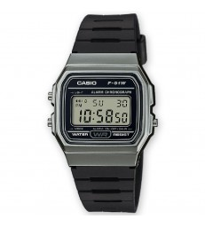 Reloj Casio digital gris/negro-F-91WM-1BEF