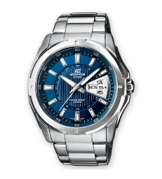 Reloj Casio edifice cab acero azul-EF-129D-2AVEF