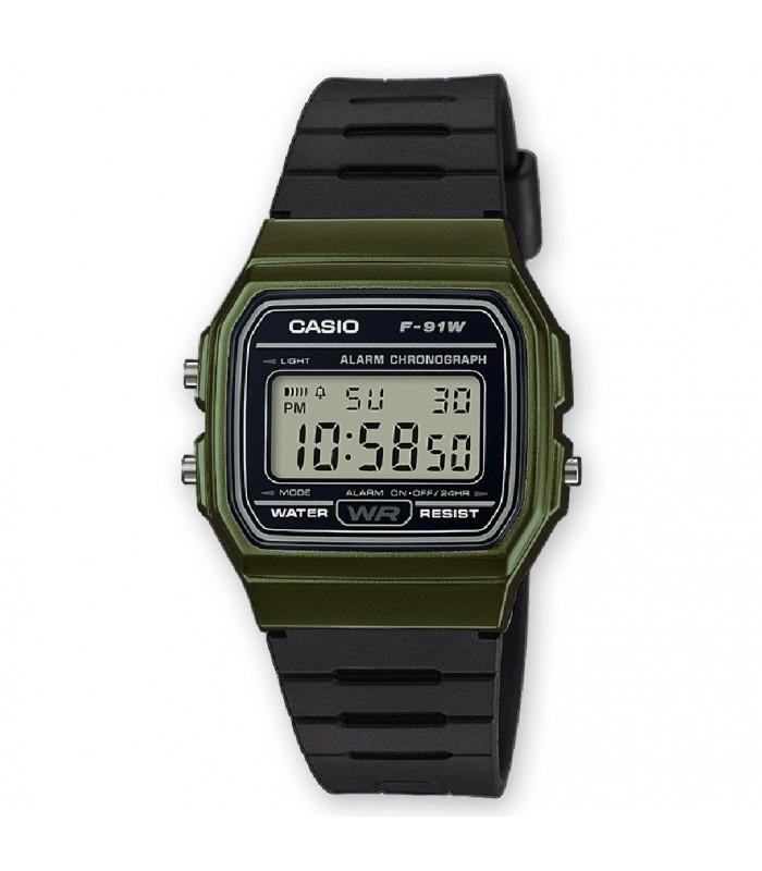 82ea006257ea Reloj Casio digital verde negro-F-91WM-3AEF