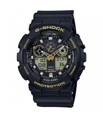 Reloj caballero G-Shock negro anadigi-GA-100GBX-1A9ER