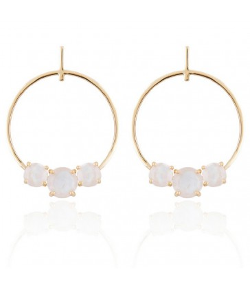 Pendientes Lavani Moonlight Blanco-PEN0701
