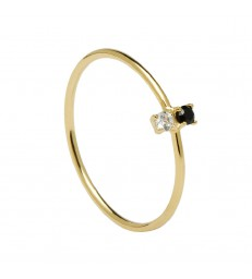 Anillo P D Paola Carbon Gold-AN01-106-12