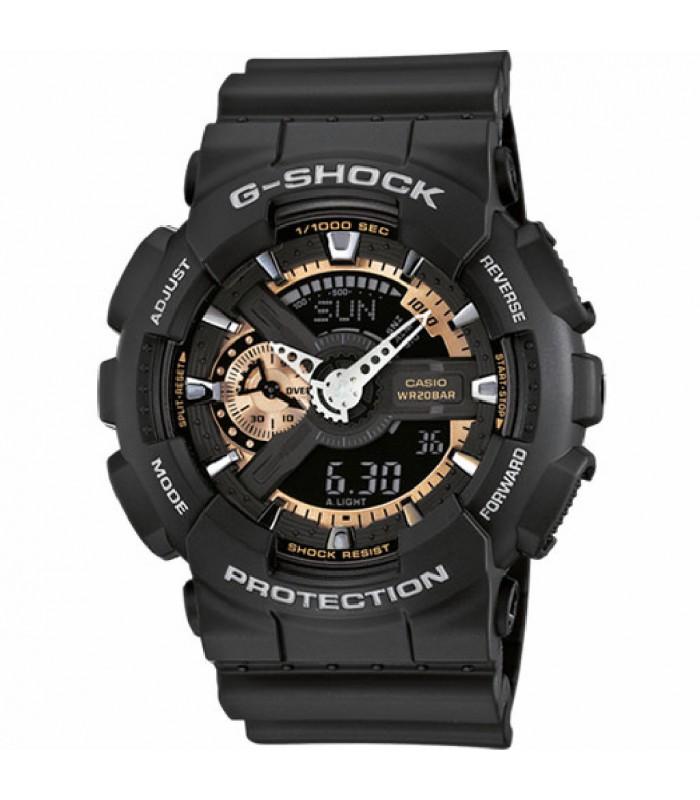 mejor servicio 84afc 9191d Reloj Casio G-Shock negro-dorado-GA-110RG-1AER