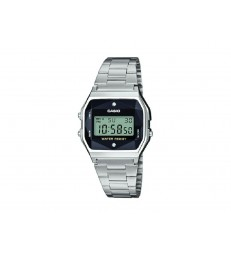Reloj Casio digital diamantes plateado-A158WEAD-1EF