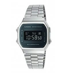 Reloj Casio digital plateado/lila-A168WEM-1EF