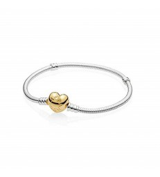Pulsera plata Pandora Moments corazon-560719-19